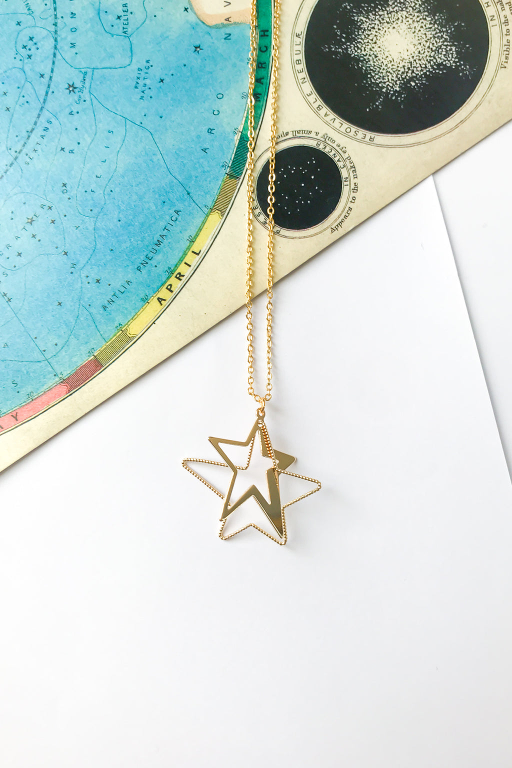 3D star necklace