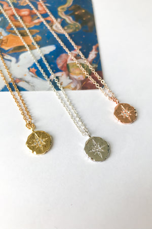 Shining north star necklace