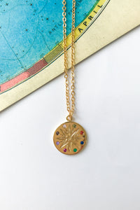 Rainbow star pendant necklace