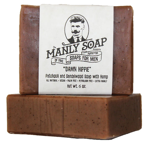 DAMN HIPPIE - Patchouli and Sandalwood Soap with Hemp