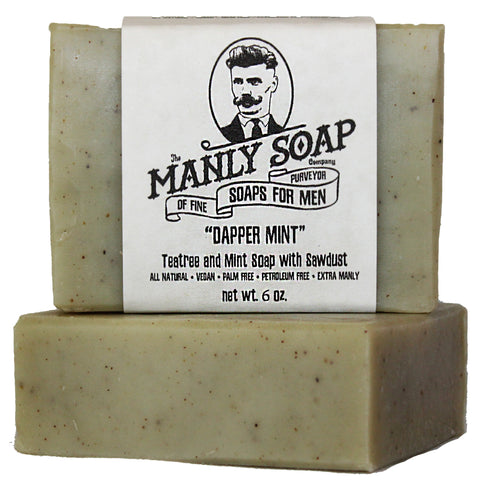 DAPPER MINT - Tea Tree and Mint Soap with Sawdust