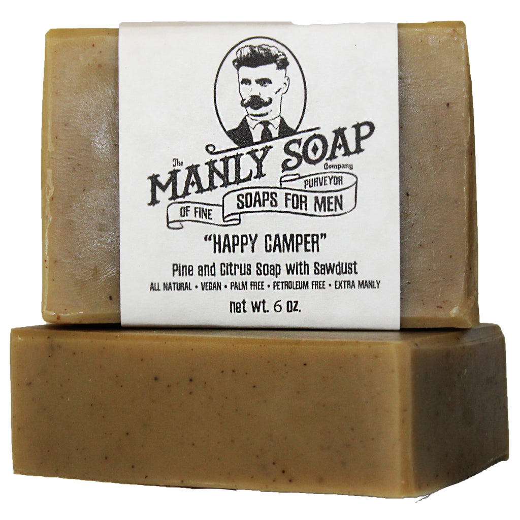 HAPPY CAMPER - Pine Tar and Citrus Soap with Sawdust