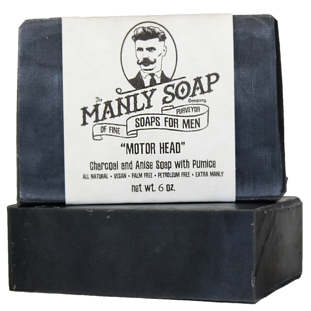 MOTOR HEAD - Charcoal and Anise Soap with Pumice