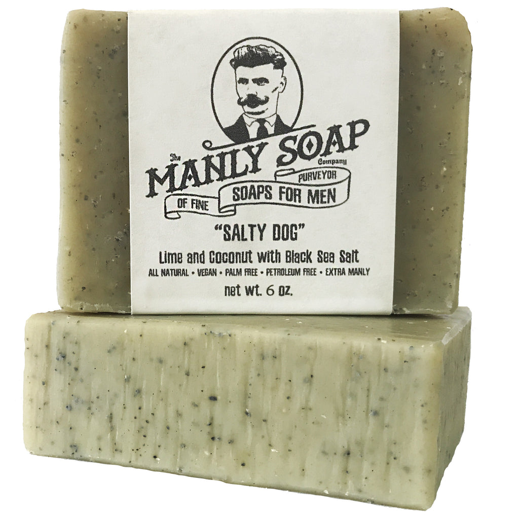SALTY DOG - Lime and Coconut Soap with Black Sea Salt