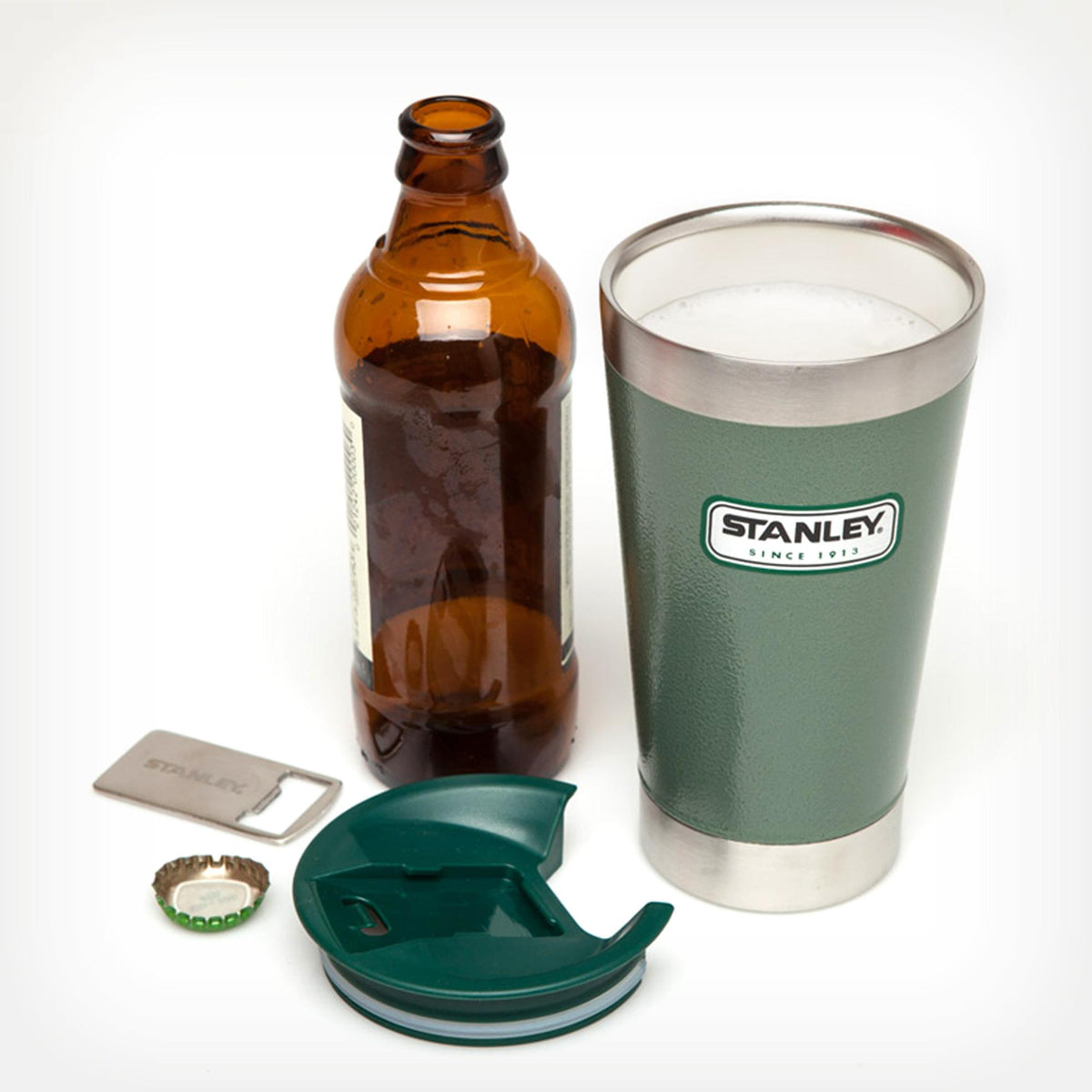 Stanley-Pint Glass 473ml Replacement Lid 82mm + Bottle Opener-Replacement Part-Green-Gearaholic.com.sg