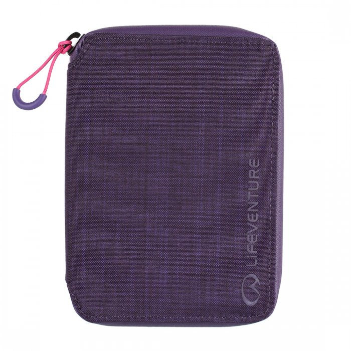 Lifeventure-RFiD Mini Travel Wallet-RFID Wallet-Purple-Gearaholic.com.sg