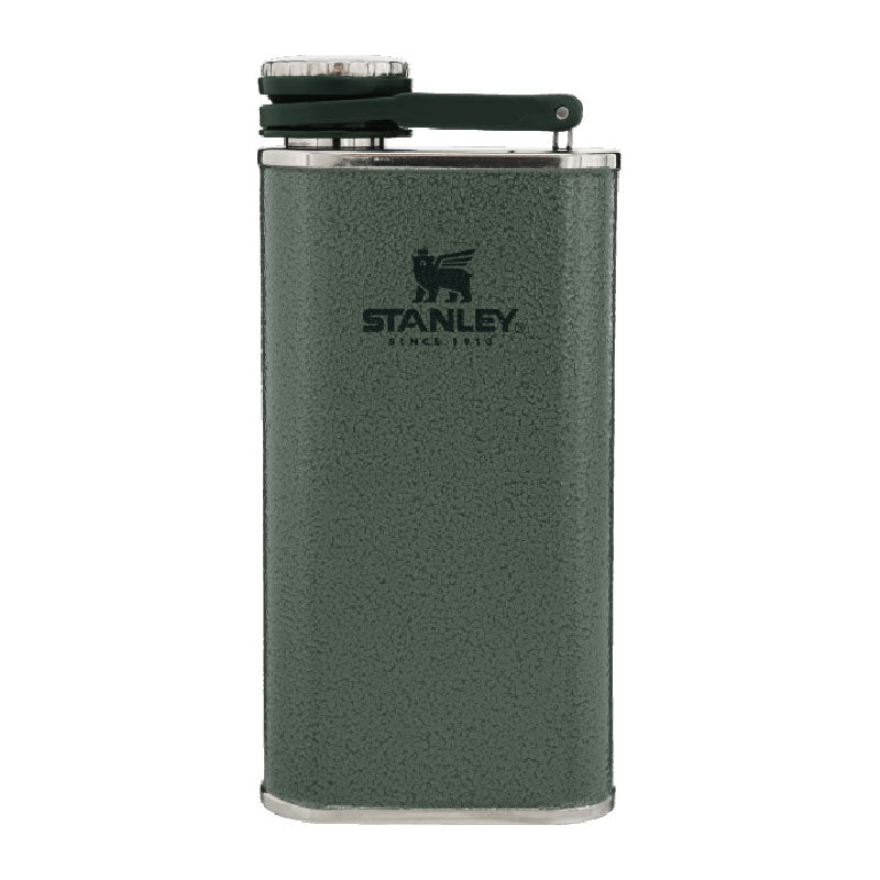 Stanley-Classic Flask 236ml-Alcohol Flask-Hammertone Green-Gearaholic.com.sg