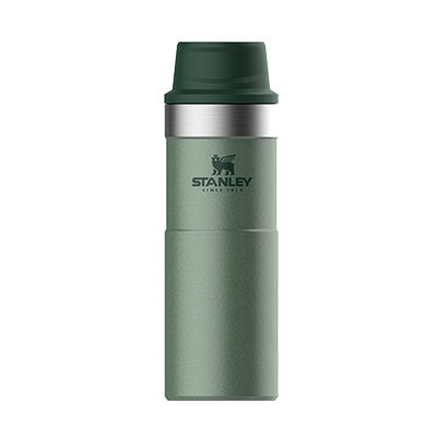 Stanley-Classic Trigger Action Travel Mug 591ml 16oz-Vacuum Bottle-Hammertone Green-Gearaholic.com.sg