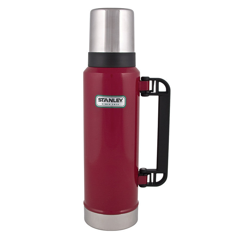 Stanley-Classic Ultra Vacuum Bottle 1.3L Green-Red-Gearaholic.com.sg