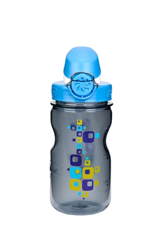 Nalgene-On the Fly Kids OTF BPA Free Water Bottle 350ml-Kids Water Bottle-Gray Bottle Square-Gearaholic.com.sg