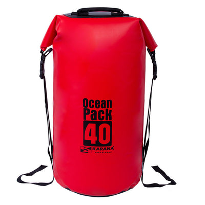 Karana-Ocean Pack Dry Bag 40 Litres-Waterproof Dry Tube-Red-Gearaholic.com.sg