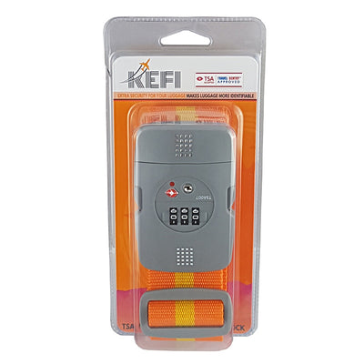 Kefi-Heavy Duty Luggage Strap with TSA Lock-Travel Accessory-Orange-Gearaholic.com.sg