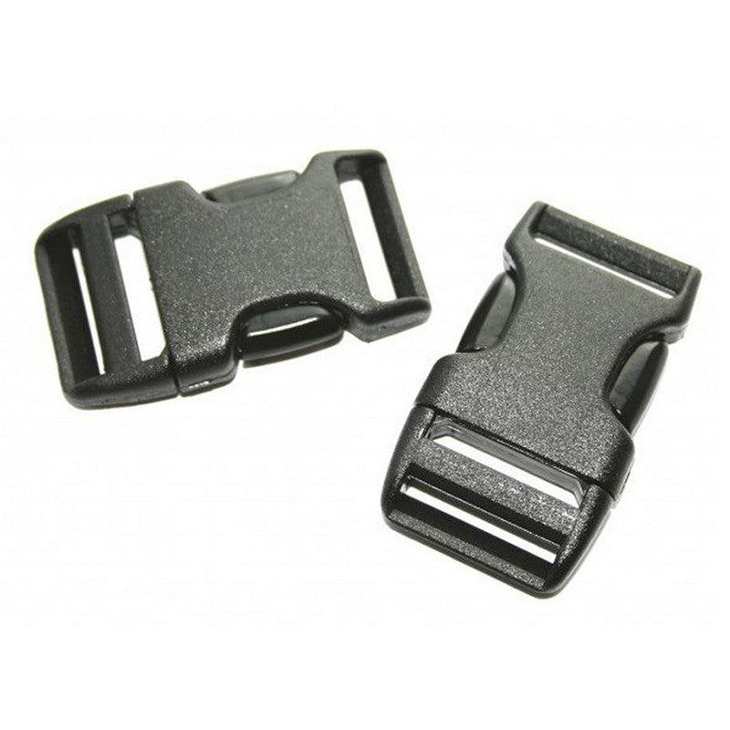 Lowe Alpine-25mm Side Squeeze Buckle (x2)-Other Accessories-Black-Gearaholic.com.sg
