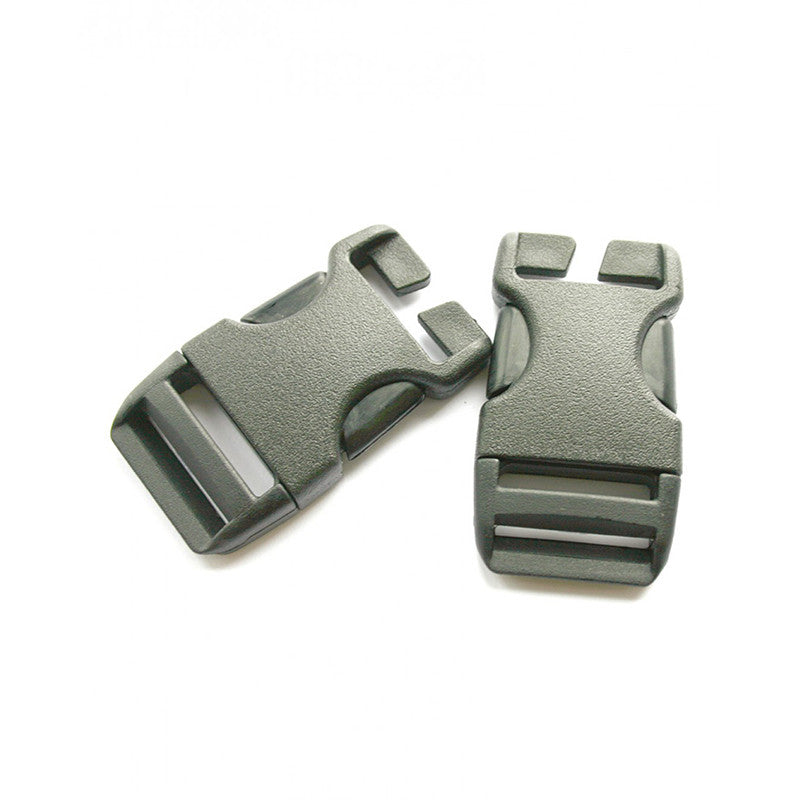 Lowe Alpine-25mm QA Side Squeeze Buckle (x2)-Other Accessories-Black-Gearaholic.com.sg