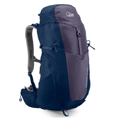 Lowe Alpine-AirZone Hike ND28 Litres Backpack (Design for Women)-Backpacking Pack-Aubergine/Blue Print-Gearaholic.com.sg