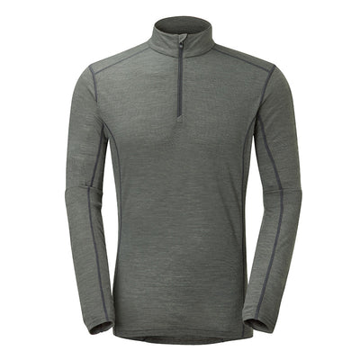 Montane-Men's Primino Zip Neck 140-Men's Next To Skin-Shadow-S-Gearaholic.com.sg