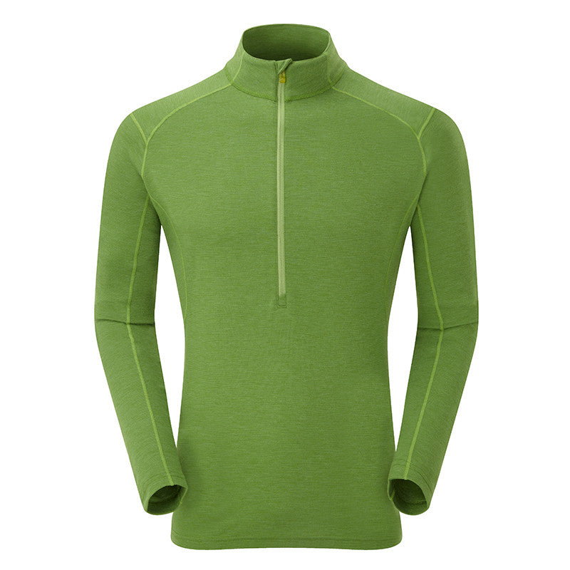 Montane-Men's Primino 220 Zip Neck-Men's Next To Skin-Eiger Green-S-Gearaholic.com.sg
