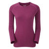 Montane-Women's Primino Crew Neck 220 Long Sleeve T-Shirt-Women's Next To Skin-Dahlia-XS-Gearaholic.com.sg