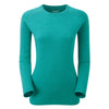 Montane-Women's Primino Crew Neck 220 Long Sleeve T-Shirt-Women's Next To Skin-Siberian Green-XS-Gearaholic.com.sg