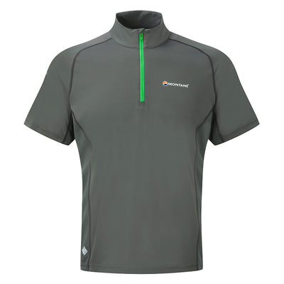 Montane-Men's Montane Sonic Ultra Zip T-Shirt-Men's Next To Skin-Shadow-XS-Gearaholic.com.sg