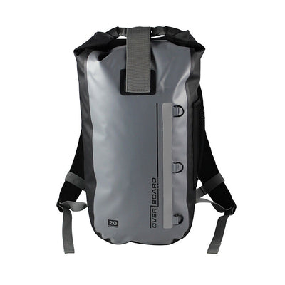 OverBoard-Classic Waterproof Backpack - 20 Litres-Waterproof Backpack-Grey-Gearaholic.com.sg