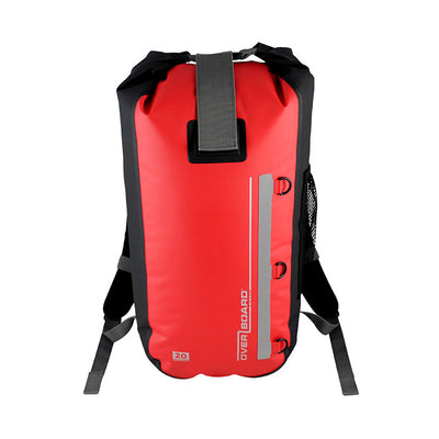 OverBoard-Classic Waterproof Backpack - 20 Litres-Waterproof Backpack-Red-Gearaholic.com.sg