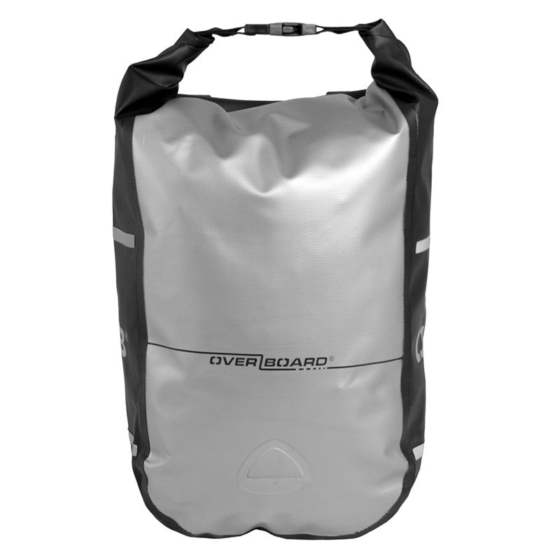 OverBoard-Waterproof Bike Pannier - 12 Litres-waterproof Bike Pannier-Grey-Gearaholic.com.sg