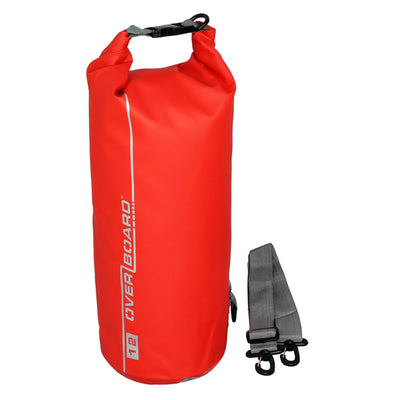 OverBoard-Waterproof Dry Tube Bag - 12 Litre-Waterproof Dry Tube-Red-Gearaholic.com.sg