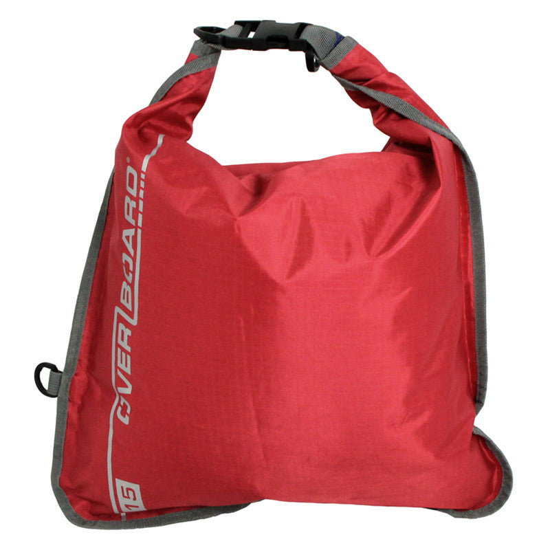 OverBoard-Waterproof Dry Flat Bag - 15 Litres-Waterproof Dry Tube-Red-Gearaholic.com.sg