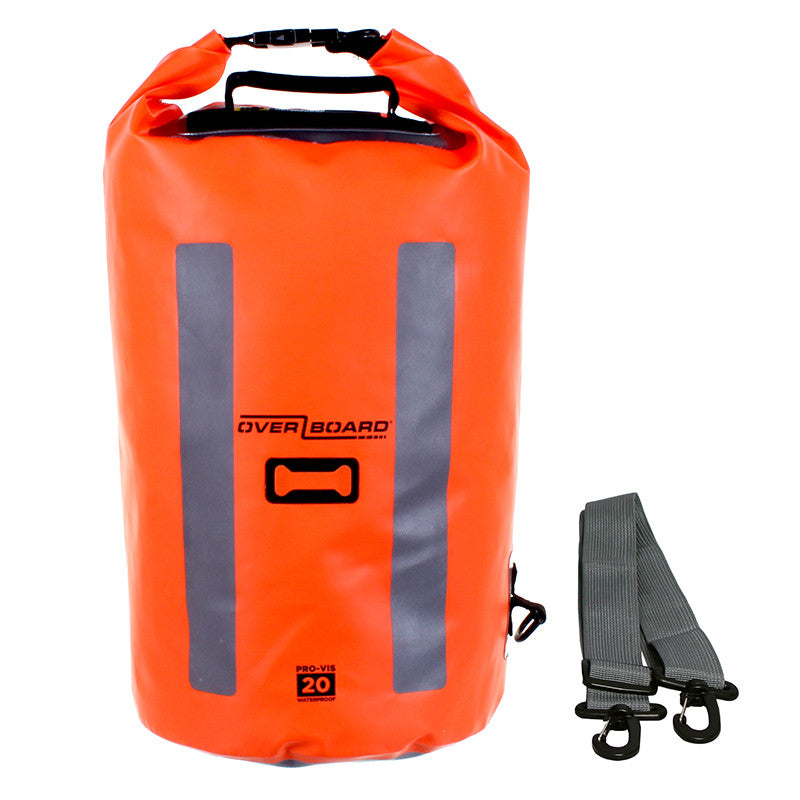 OverBoard-Pro-Vis Waterproof Dry Tube - 20 Litre-Waterproof Dry Tube-High-Vis Orange-Gearaholic.com.sg