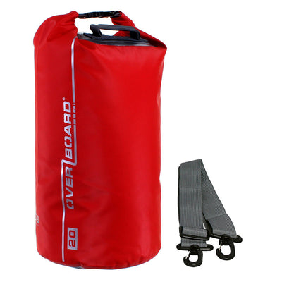 OverBoard-Waterproof Dry Tube Bag - 20 Litre-Waterproof Dry Tube-Red-Gearaholic.com.sg