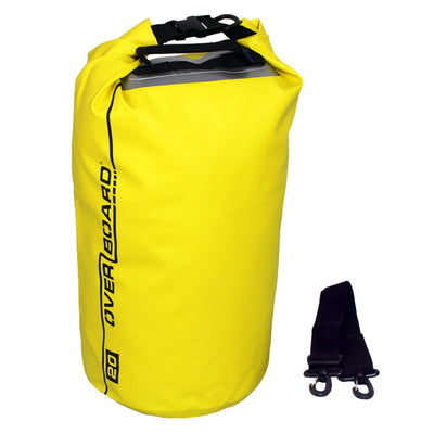 OverBoard-Waterproof Dry Tube Bag - 20 Litre-Waterproof Dry Tube-Yellow-Gearaholic.com.sg