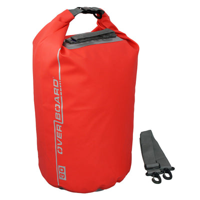 OverBoard-Waterproof Dry Tube Bag - 30 Litre-Waterproof Dry Tube-Red-Gearaholic.com.sg