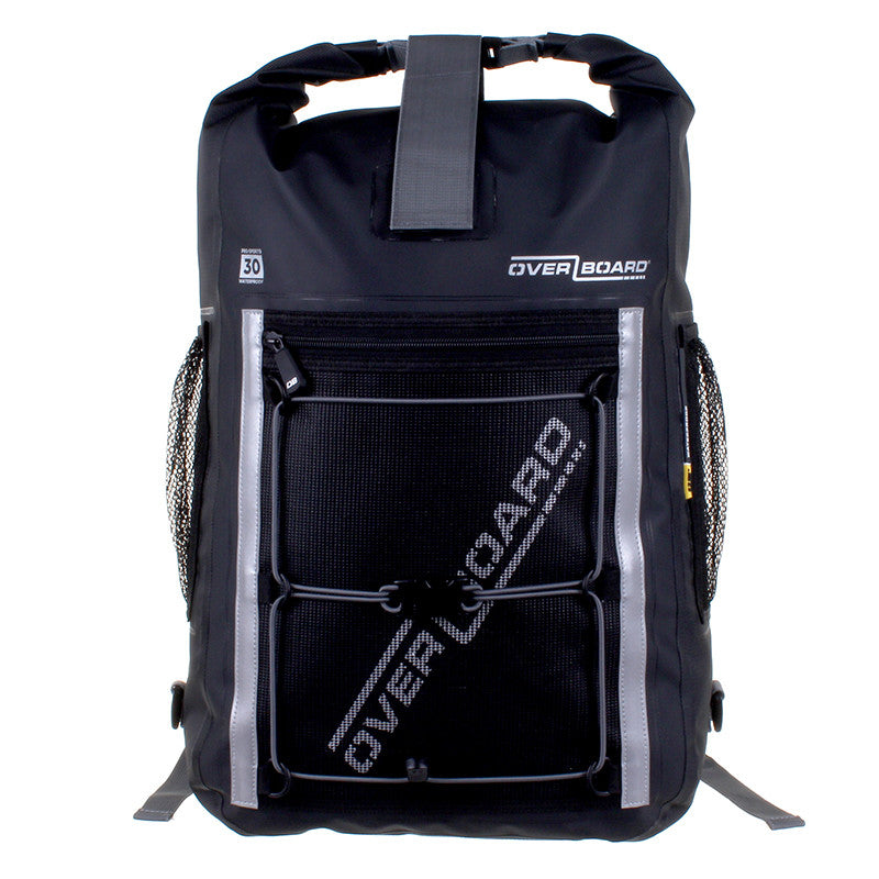OverBoard-Pro-Sports Waterproof Backpack - 30 Litres-Waterproof Backpack-Black-Gearaholic.com.sg