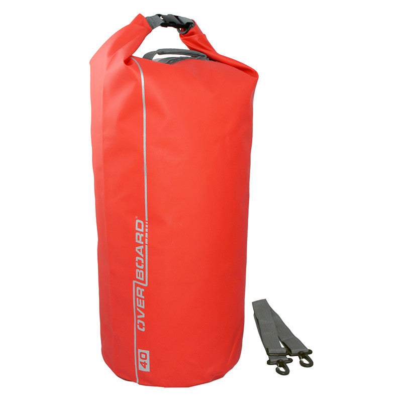 OverBoard-Waterproof Dry Tube Bag - 40 Litre-Waterproof Dry Tube-Red-Gearaholic.com.sg