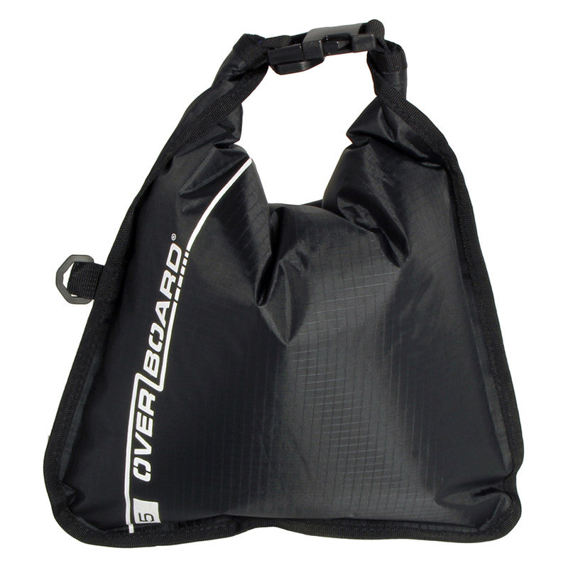 OverBoard-Waterproof Dry Flat Bag - 5 Litres-Waterproof Dry Tube-Black-Gearaholic.com.sg