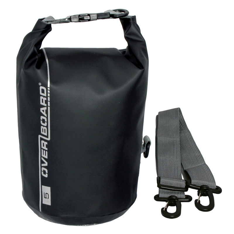 OverBoard-Waterproof Dry Tube Bag - 5 Litre-Waterproof Dry Tube-Black-Gearaholic.com.sg