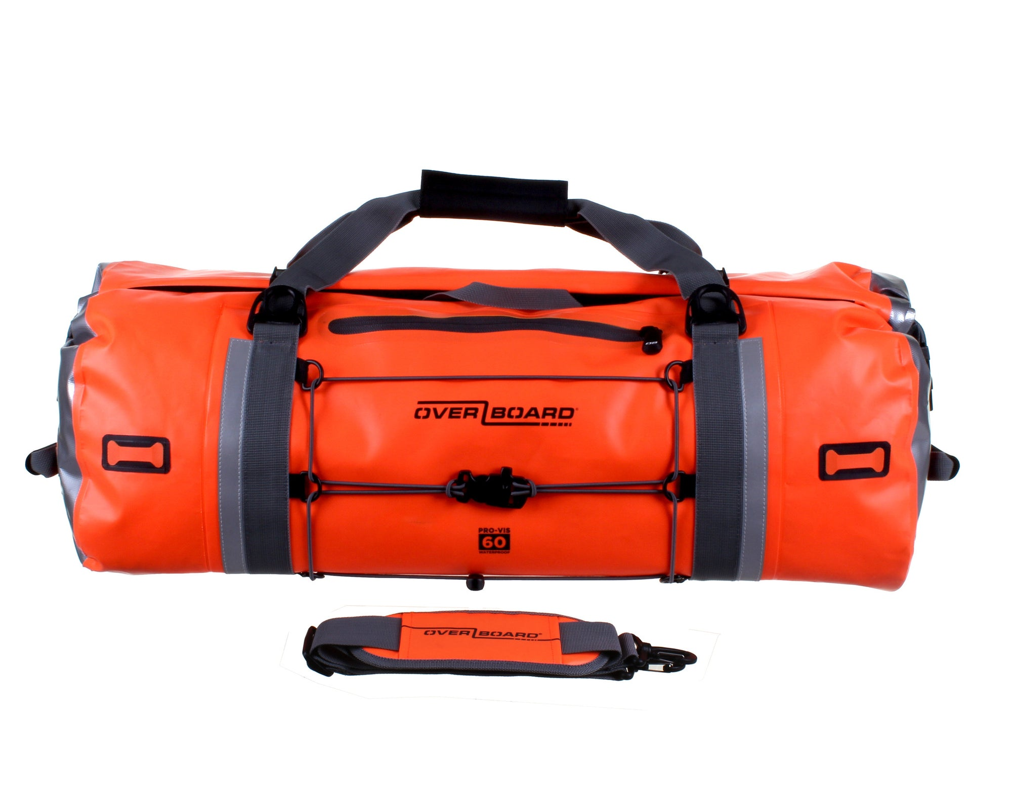 OverBoard-Pro-Vis Waterproof Duffel Bag - 60 Litre-Waterproof Duffel-High-Vis Orange-Gearaholic.com.sg