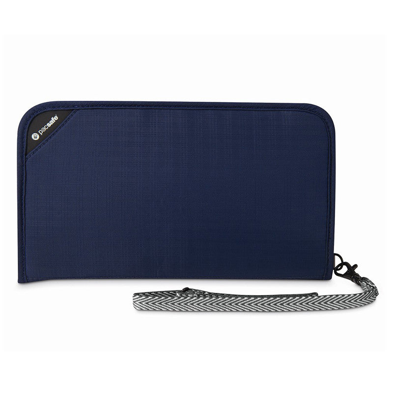 Pacsafe-RFIDsafe V200 RFID Blocking Travel Organiser-RFID Bag-Navy-Gearaholic.com.sg