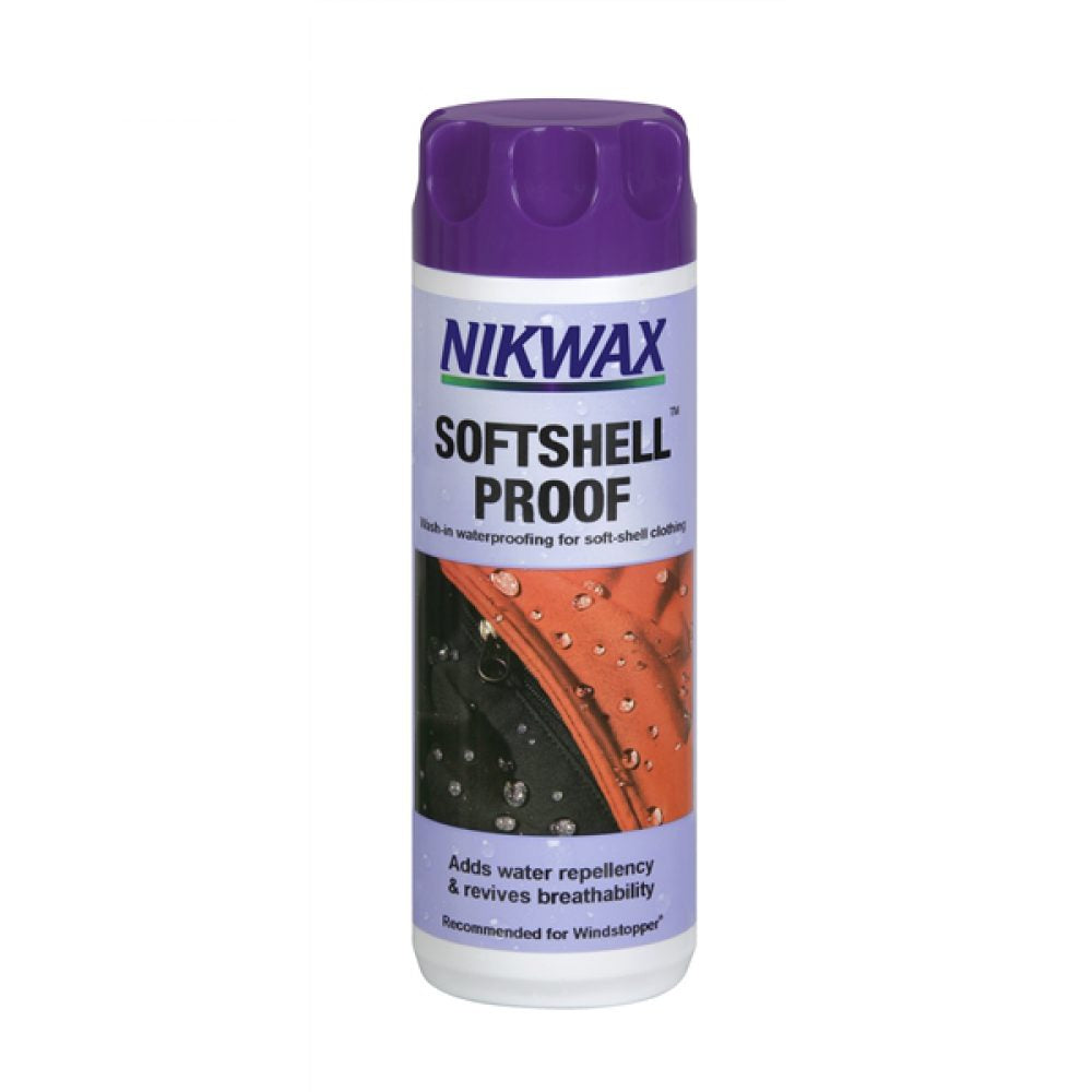Shop for Nikwax at Nikwax Softshell Proof Wash In - 300ml at Gearaholic.com.sg