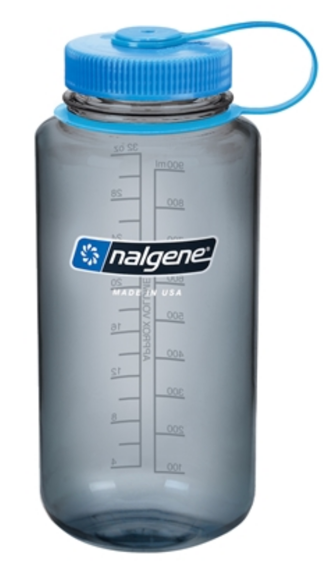Nalgene-32oz 1L Wide Mouth BPA Free Water Bottle-Water Bottle-Grey-Gearaholic.com.sg
