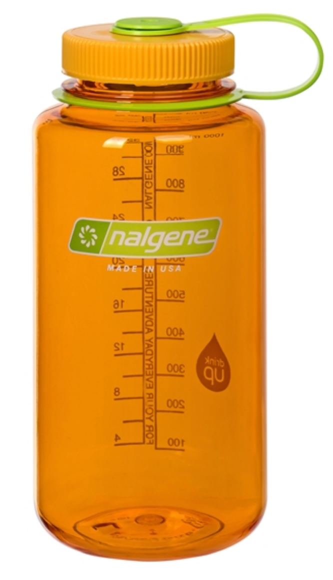 Nalgene-32oz 1L Wide Mouth BPA Free Water Bottle-Water Bottle-Clementine-Gearaholic.com.sg