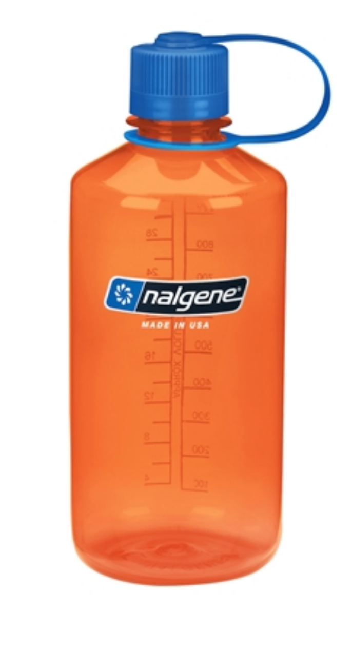 Nalgene-32oz 1L Narrow Mouth BPA Free Water Bottle-Water Bottle-Orange-Gearaholic.com.sg