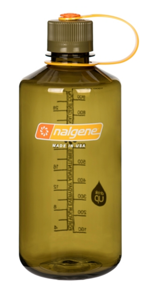 Nalgene-32oz 1L Narrow Mouth BPA Free Water Bottle-Water Bottle-Olive-Gearaholic.com.sg