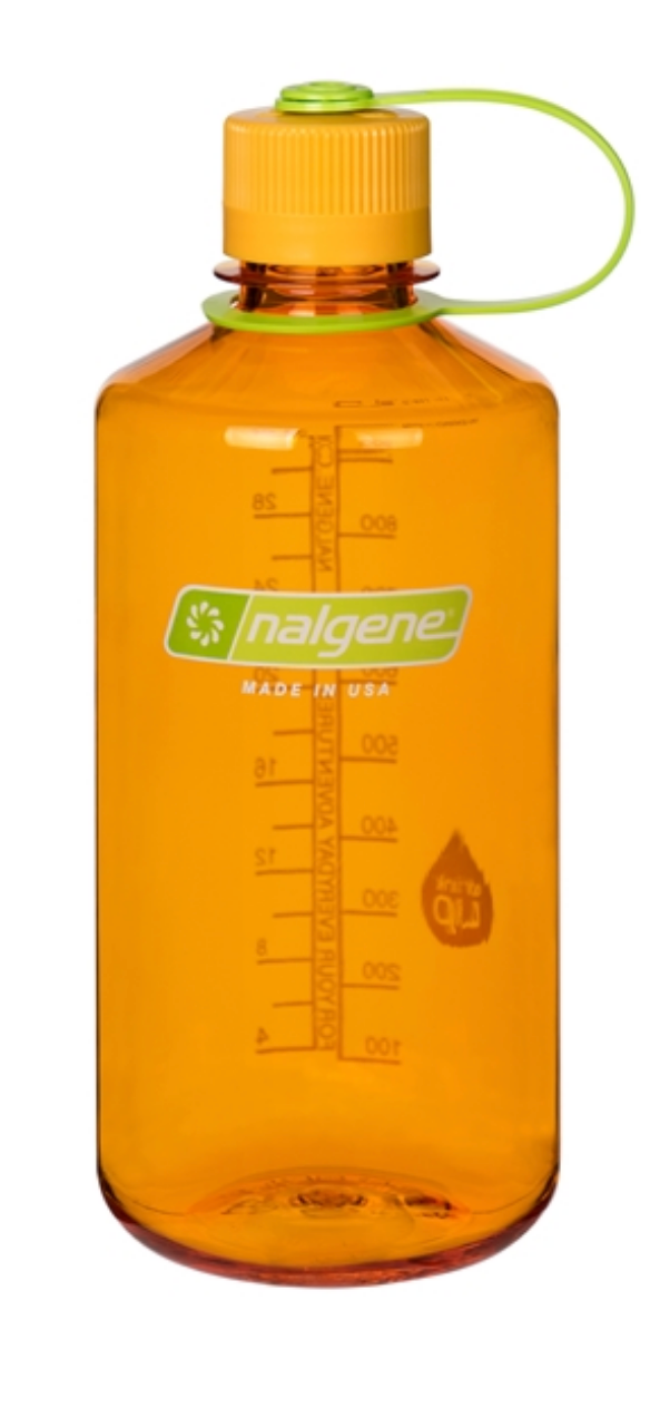 Nalgene-32oz 1L Narrow Mouth BPA Free Water Bottle-Water Bottle-Clementine-Gearaholic.com.sg