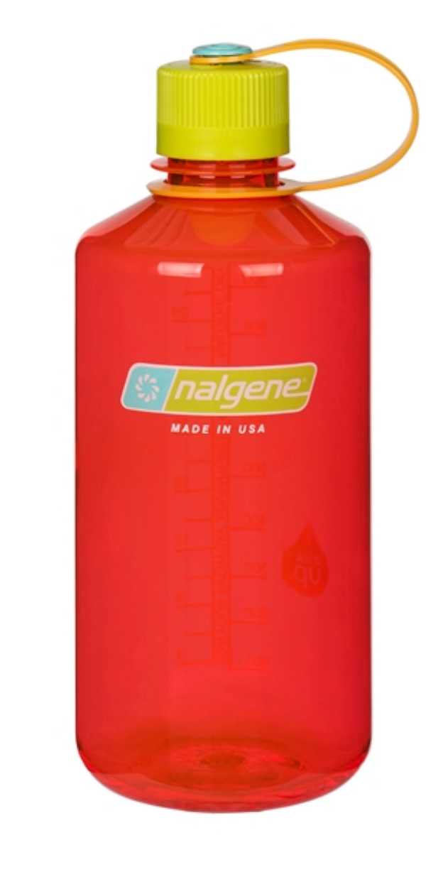 Nalgene-32oz 1L Narrow Mouth BPA Free Water Bottle-Water Bottle-Pomegranate-Gearaholic.com.sg
