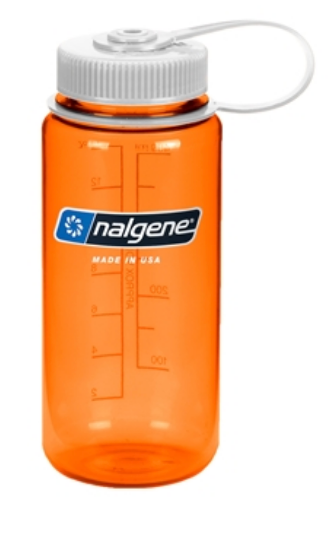 Nalgene-16oz 500ml Wide Mouth BPA Free Water Bottle-Water Bottle-Orange-Gearaholic.com.sg