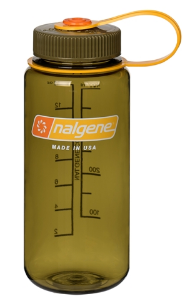 Nalgene-16oz 500ml Wide Mouth BPA Free Water Bottle-Water Bottle-Olive-Gearaholic.com.sg