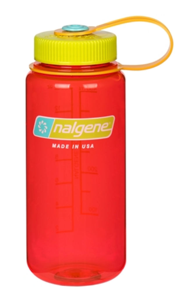 Nalgene-16oz 500ml Wide Mouth BPA Free Water Bottle-Water Bottle-Pomegranate-Gearaholic.com.sg