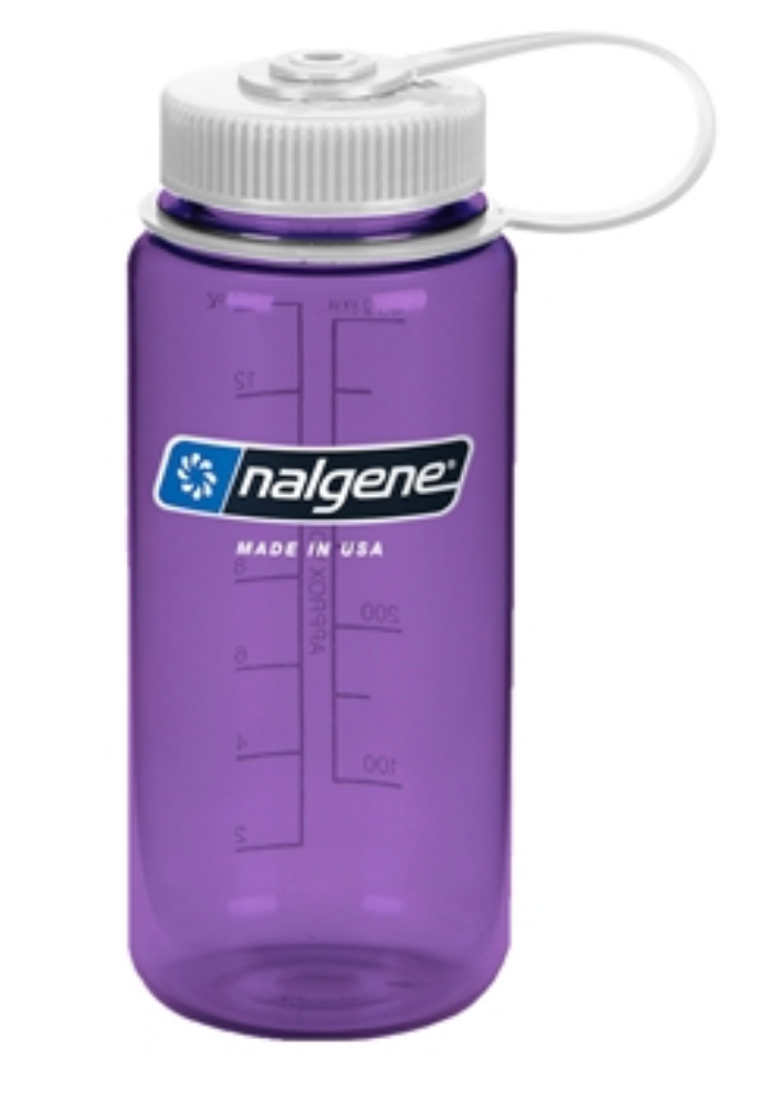 Nalgene-16oz 500ml Wide Mouth BPA Free Water Bottle-Water Bottle-Purple-Gearaholic.com.sg